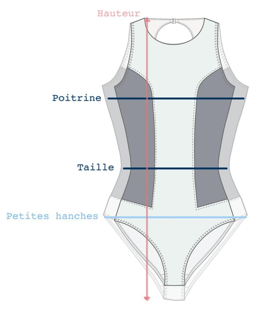 maillot de bain dessin technique