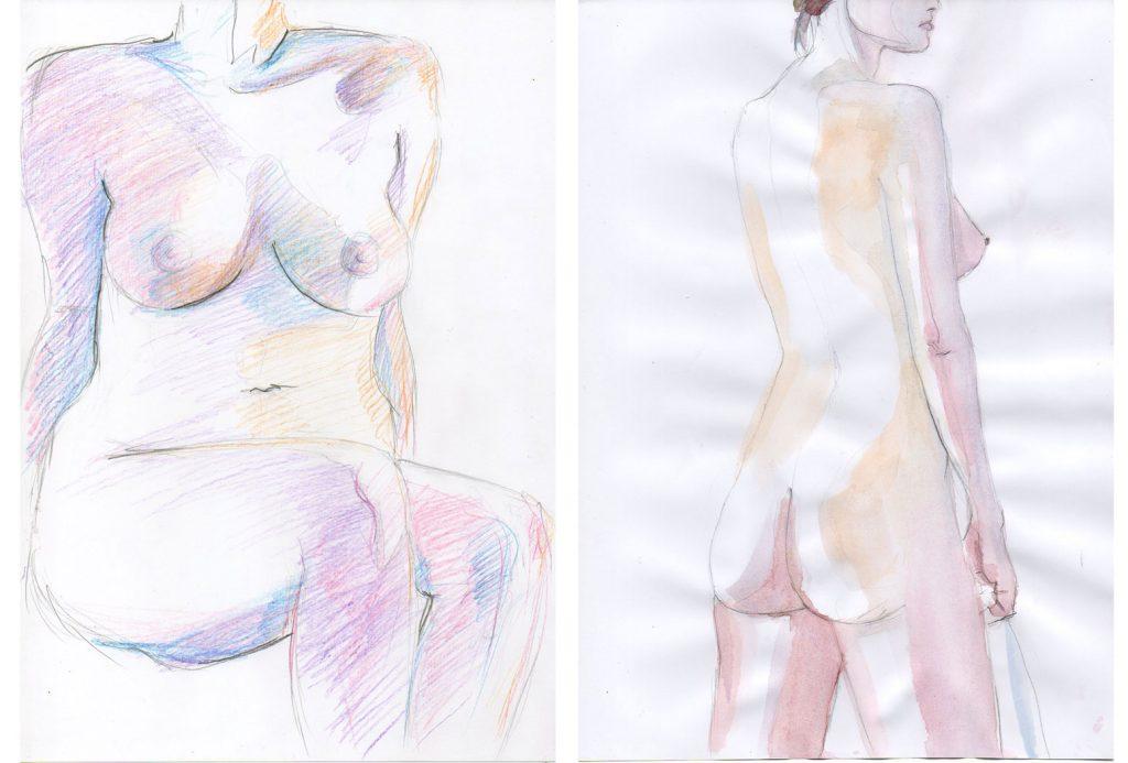 Croquis nu féminin