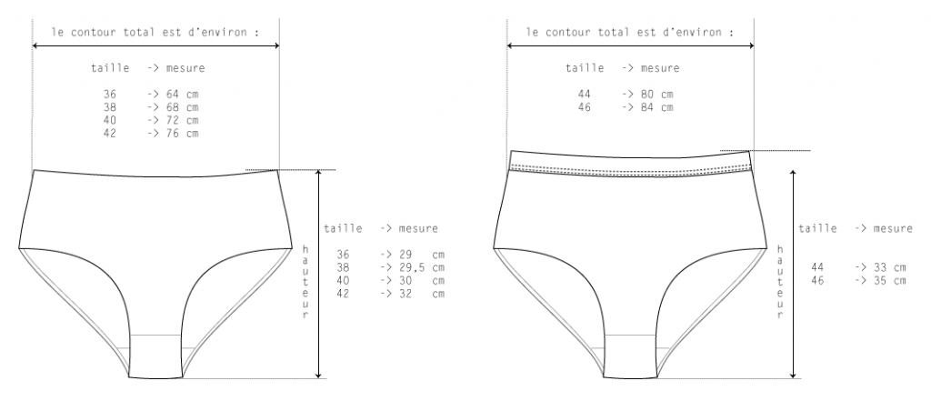 dessin technique culotte