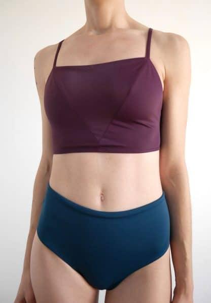 brassière maillot de bain violette