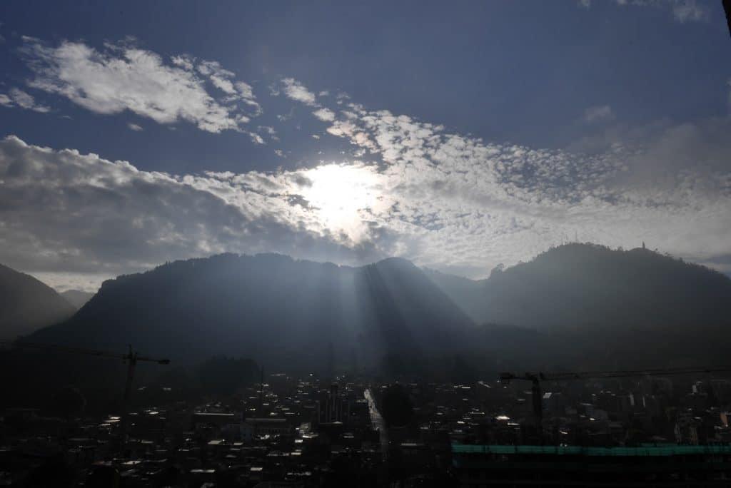 levé de soleil Bogota