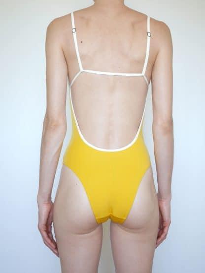 maillot bain 1 pièce fines bretelles anti-UV