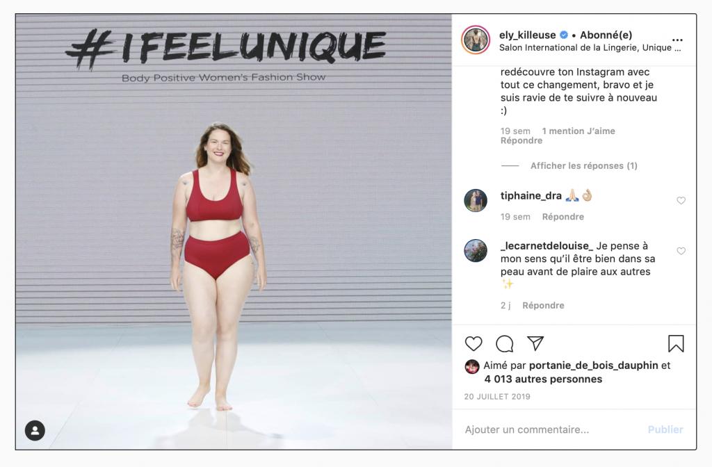 I feel unique mode body positive