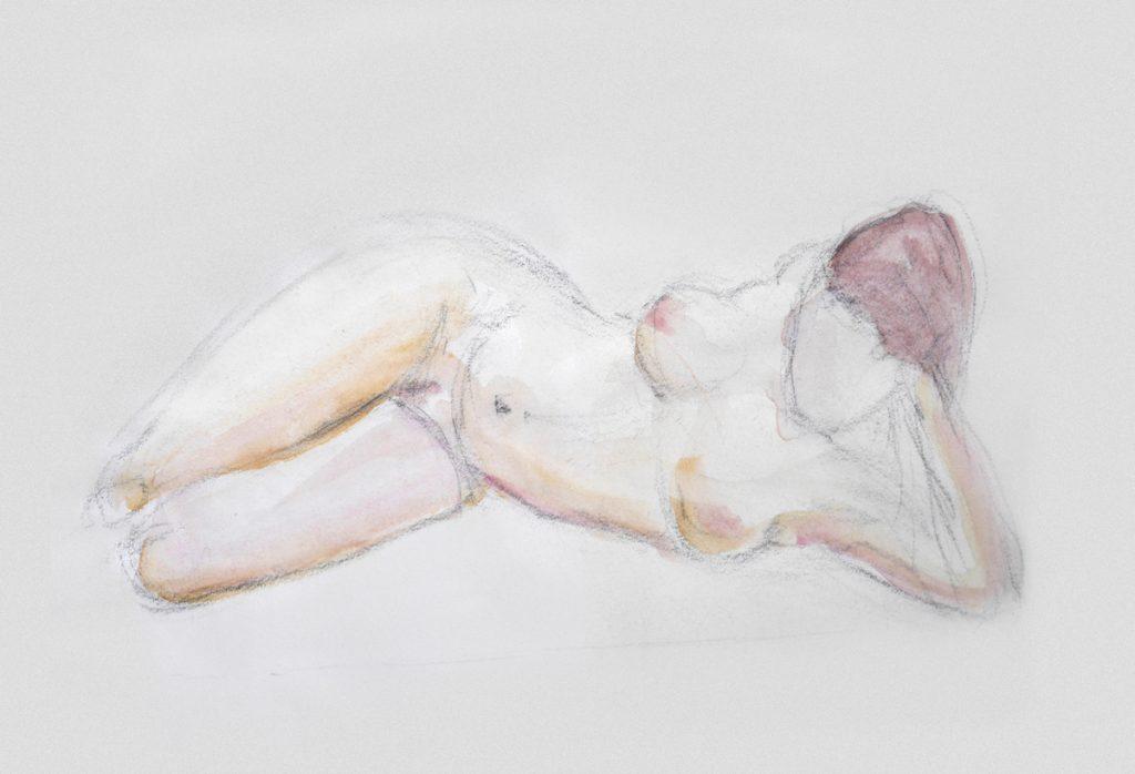 dessin croquis nu féminin